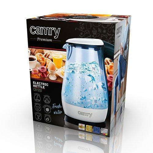 Czajnik elektryczny CAMRY CR 1251w (2000W 1.7l; kolor przeźroczysty)