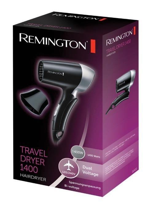 Suszarka do włosów REMINGTON D2400 (1400W; kolor czarny)