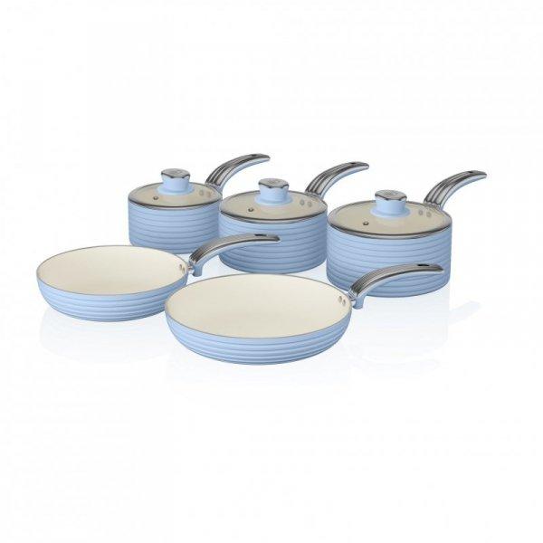 Zestaw garnków z powłoką ceramiczną Swan RETRO SWPS5020BLN (20 cm, 28 cm)