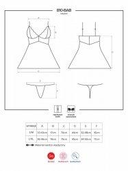 Bielizna-810-BAB-1 babydoll i stringi czarna  S/M