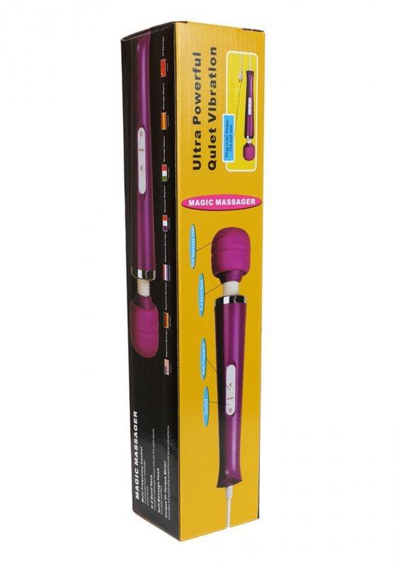 Stymulator-Magic Massager Wand Cable 110-240V White 10 Function