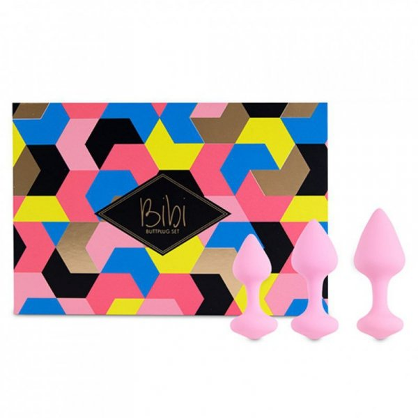 Korki analne - FeelzToys Bibi Butt Plug Set 3 szt Pink
