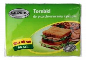Sarantis Jan Niezbędny Grosik Torebki do przechowywania żywności 20x30cm  1op.-50szt