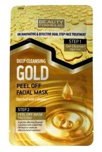 Beauty Formulas Gold Złota Maseczka oczyszczająca na twarz peel-off  1szt