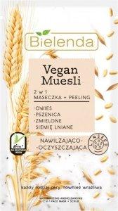 Bielenda Vegan Muesli Maseczka + Peeling 2w1 nawilżająco-oczyszczająca 8g