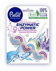 Brait Hygiene & Fresh Kostka toaletowa do WC Enzymatic Power - Lavender  45g
