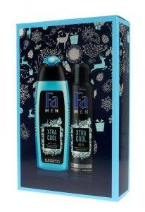 Fa Men Zestaw prezentowy Xtra Cool (Żel pod prysznic 250ml+Dezodorant spray 150ml)