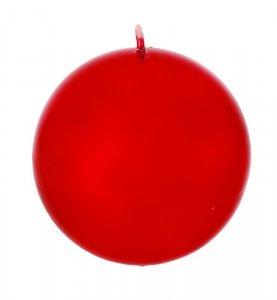 ARTMAN Boże Narodzenie Świeca ozdobna Lustro czerwona - kula mała 1szt