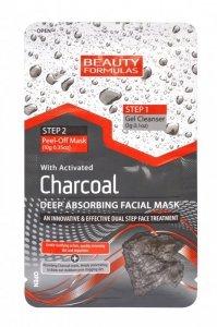 Beauty Formulas Charcoal Maseczka 2-fazowa głęboko oczyszczająca z aktywnym węglem  13g