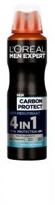 Loreal Men Expert Dezodorant spray Carbon Protect 4w1  150ml