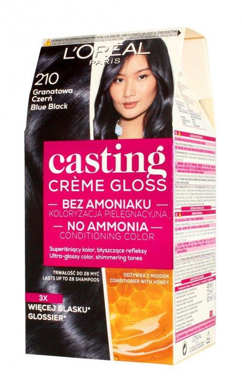 Casting Creme Gloss Krem koloryzujący nr 210 Granatowa Czerń 1 op.