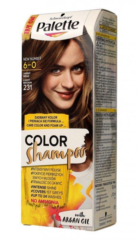 Palette Color Shampoo Szampon koloryzujący  nr 6-0 (231) Jasny Brąz  1op.