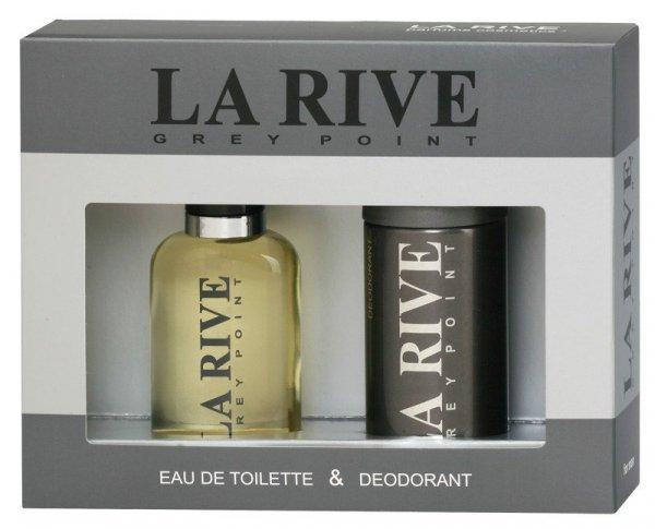 La Rive La Rive for Men Grey Point Zestaw/edt100ml+deo150ml/