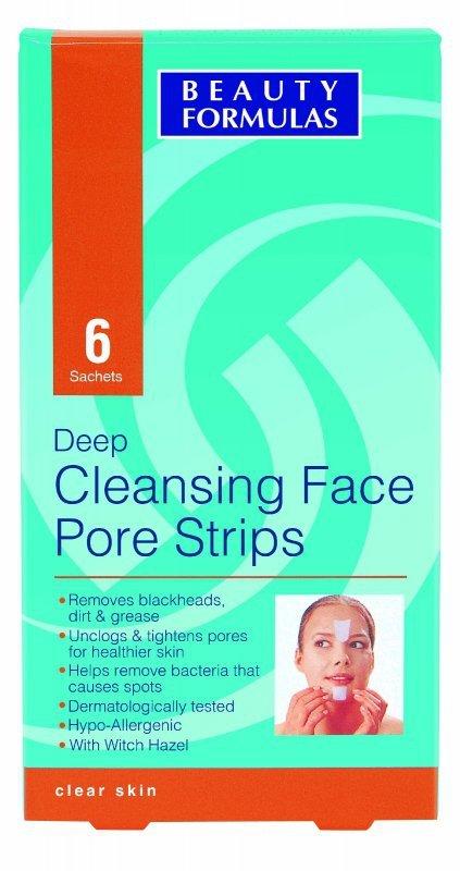Beauty Formulas Skin Care Głęboko oczyszczające paski na twarz