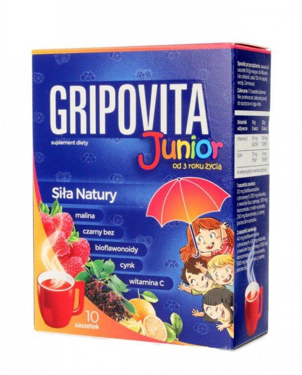 Gripovita Junior Suplement diety dla dzieci - herbatka  1op.-10 saszetek