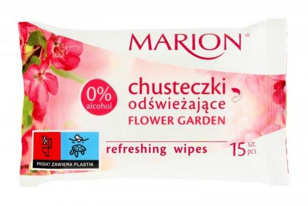 Marion Chusteczki odświeżające Flower Garden o zapachu kwiatowym 1op-15szt