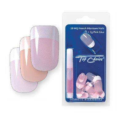 Top Choice Pielęgnacja i zdobienie paznokci Sztuczne paznokcie French Manicure mleczny róż 7866MR