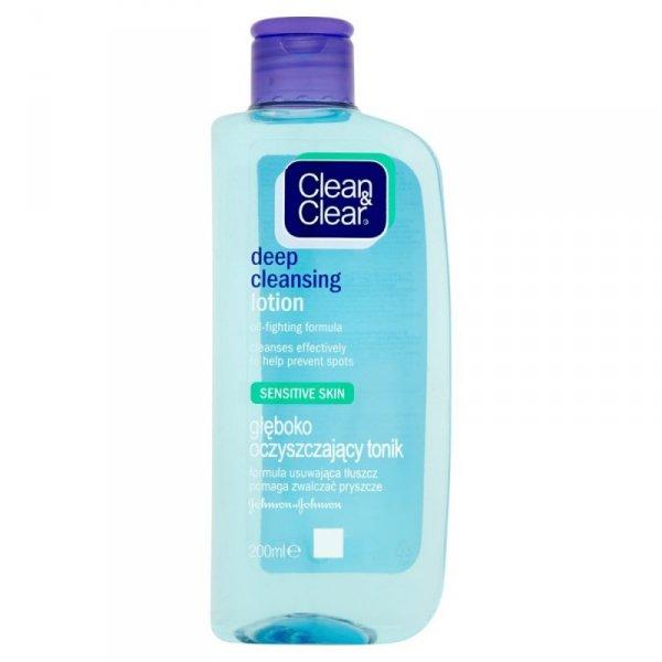 Clean&Clear Głęboko oczyszczający tonik do twarzy do skóry wrażliwej 200ml