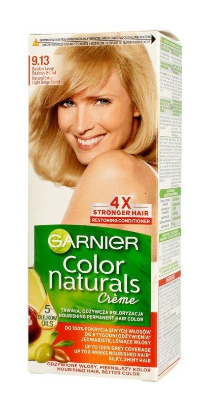 Garnier Color Naturals Krem koloryzujący nr 9.13 Bardzo Jasny Beżowy Blond 1op