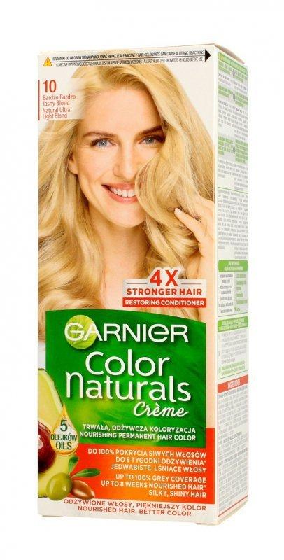 Garnier Color Naturals Krem koloryzujący nr 10 Bardzo Bardzo Jasny Blond 1op