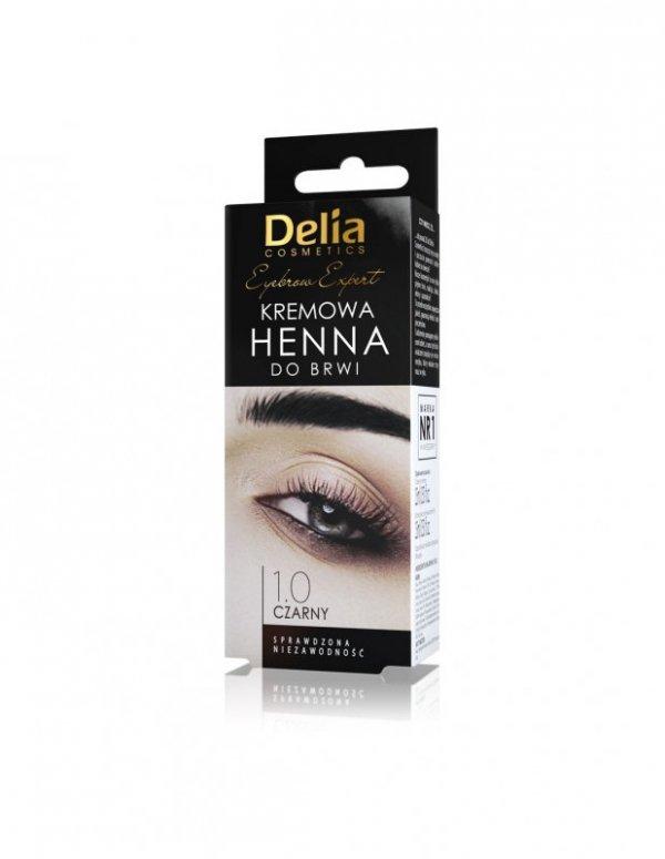 Delia Cosmetics Henna do brwi kremowa nr 1.0 Czarna  1op.