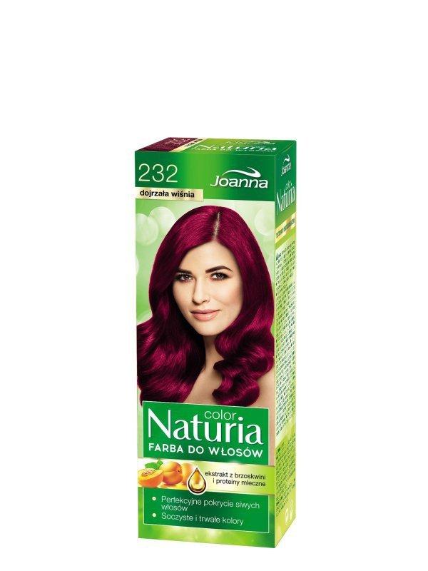 Joanna Naturia Color Farba do włosów nr 232-dojrzała wiśnia  150g