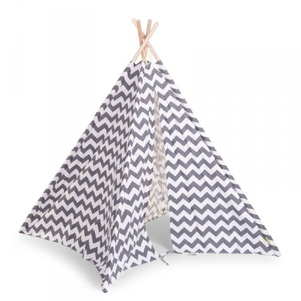 Childhome Namiot Tipi Grey/White Zigzag