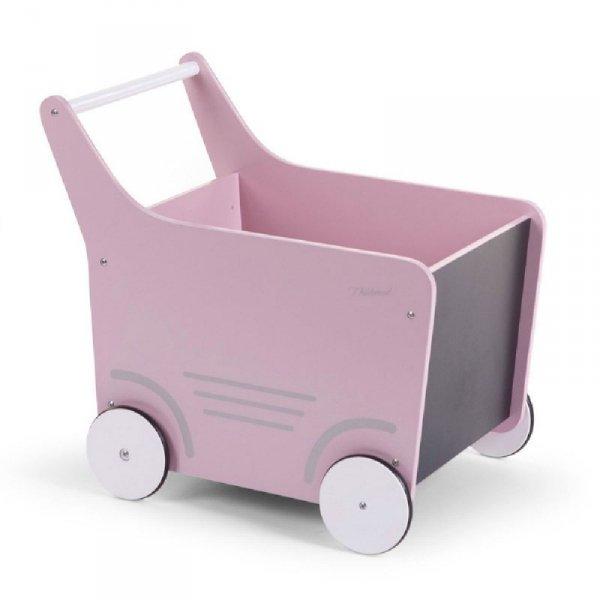 Childhome Drewniany pchaczyk na zabawki Soft Pink