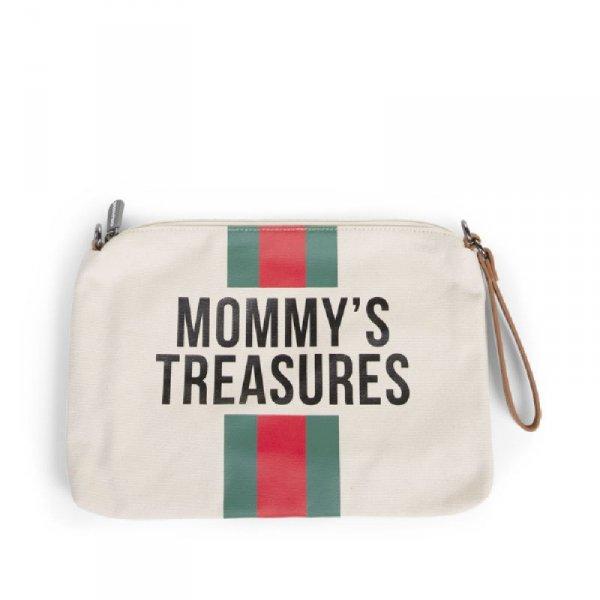Childhome Torebka Mommy's Treasures Paski Zielono-Czerwone