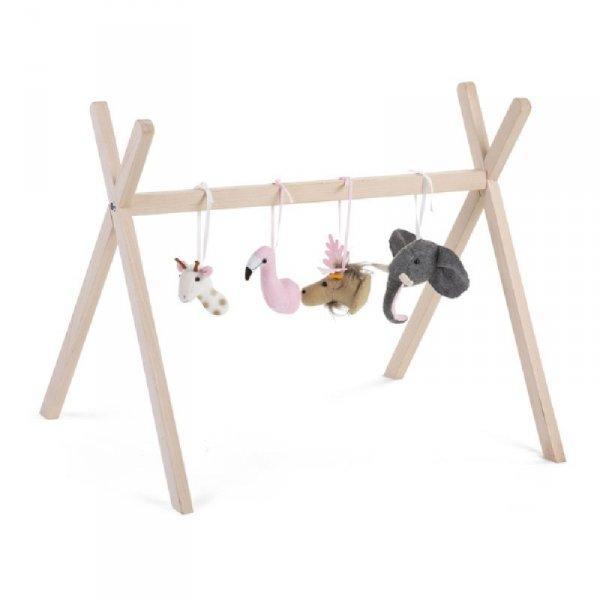 Childhome Zestaw zabawek z filcu 4 szt. do Tipi Play Gym
