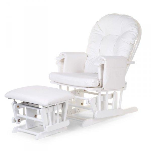 Childhome Fotel pływający zaokrąglony z podnóżkiem White