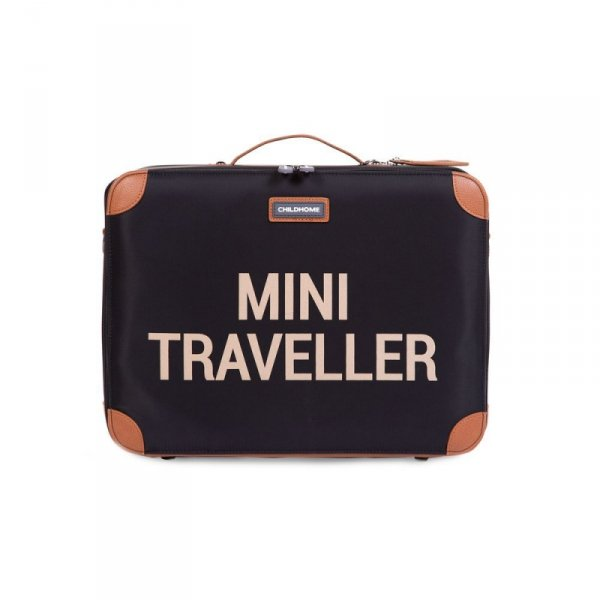Childhome Walizka dziecięca Mini Traveller Czarno-Złota