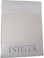 Prześcieradło zwirn-jersey z gumką Estella ecru