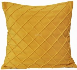 Poszewka welwet żółty 45x45