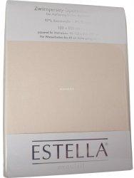Prześcieradło zwirn-jersey z gumką Estella beige