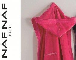 Elegancki szlafrok unisex Naf Naf różowy  M