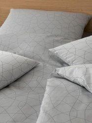 Elegante pościel bawełniana egipska żakardowa Circle silber-grau 2330 200x220
