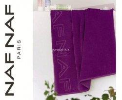 Naf Naf ręcznik plażowy jednolity fioletowy 90x180