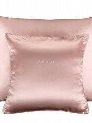 Jedwabna poszewka na poduszkę pudrowy róż  50x70