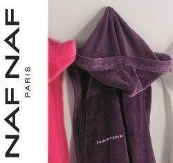 Elegancki szlafrok unisex Naf Naf fioletowy XL