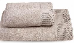 Ręcznik Ada jasny brąz z koronką 50x90, 70x140