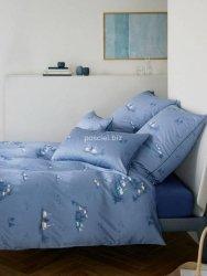 Elegante pościel mako-bawełniana egipska Home niebieska 2344 135x200
