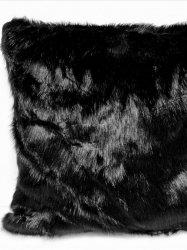 Poszewka futrzana pers czarna 45x45