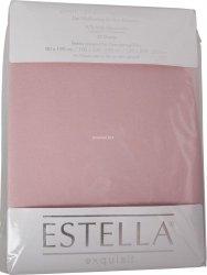 Prześcieradło zwirn-jersey z gumką Estella rosa