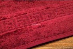 Ręcznik Cawo bordowy 30x50, 80x160