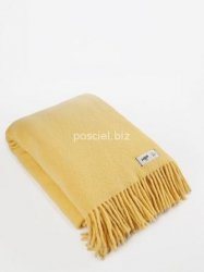 Hop koc wełniany Yeti pastelowy żółty 145x205