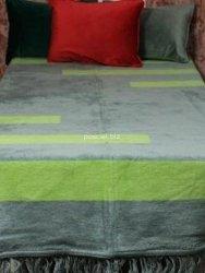Koc Spring szaro-zielony 150x200