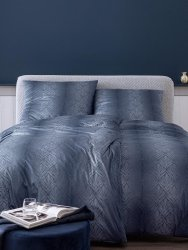 Estella pościel mako-jersey Juri nachtblau 6928 155x200