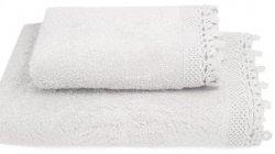 Ręcznik Iga biały z koronką 50x90, 70x140