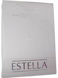 Prześcieradło zwirn-jersey z gumką Estella białe